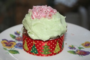 peppermint choc cupcakes