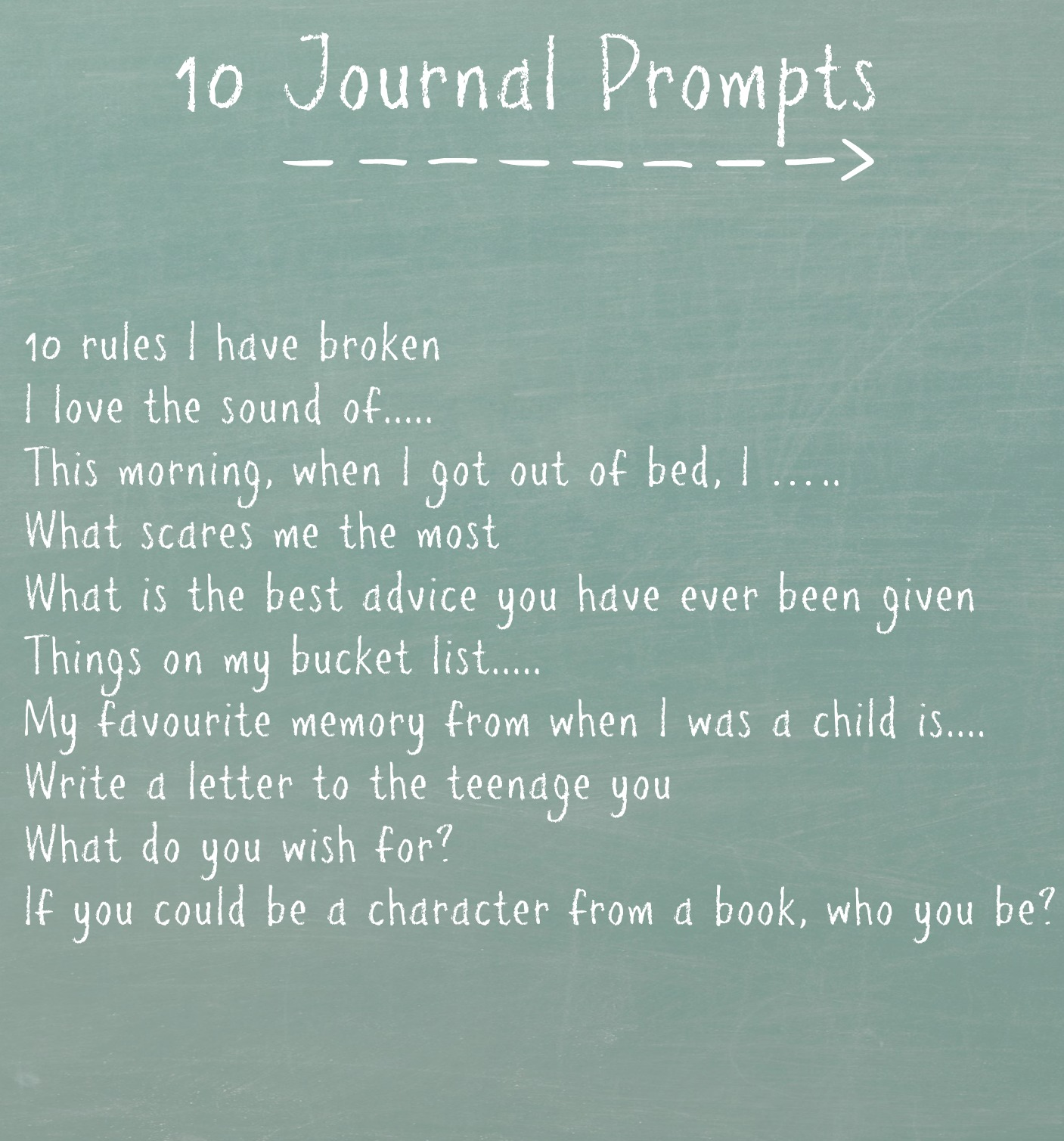 prompts for journal writing