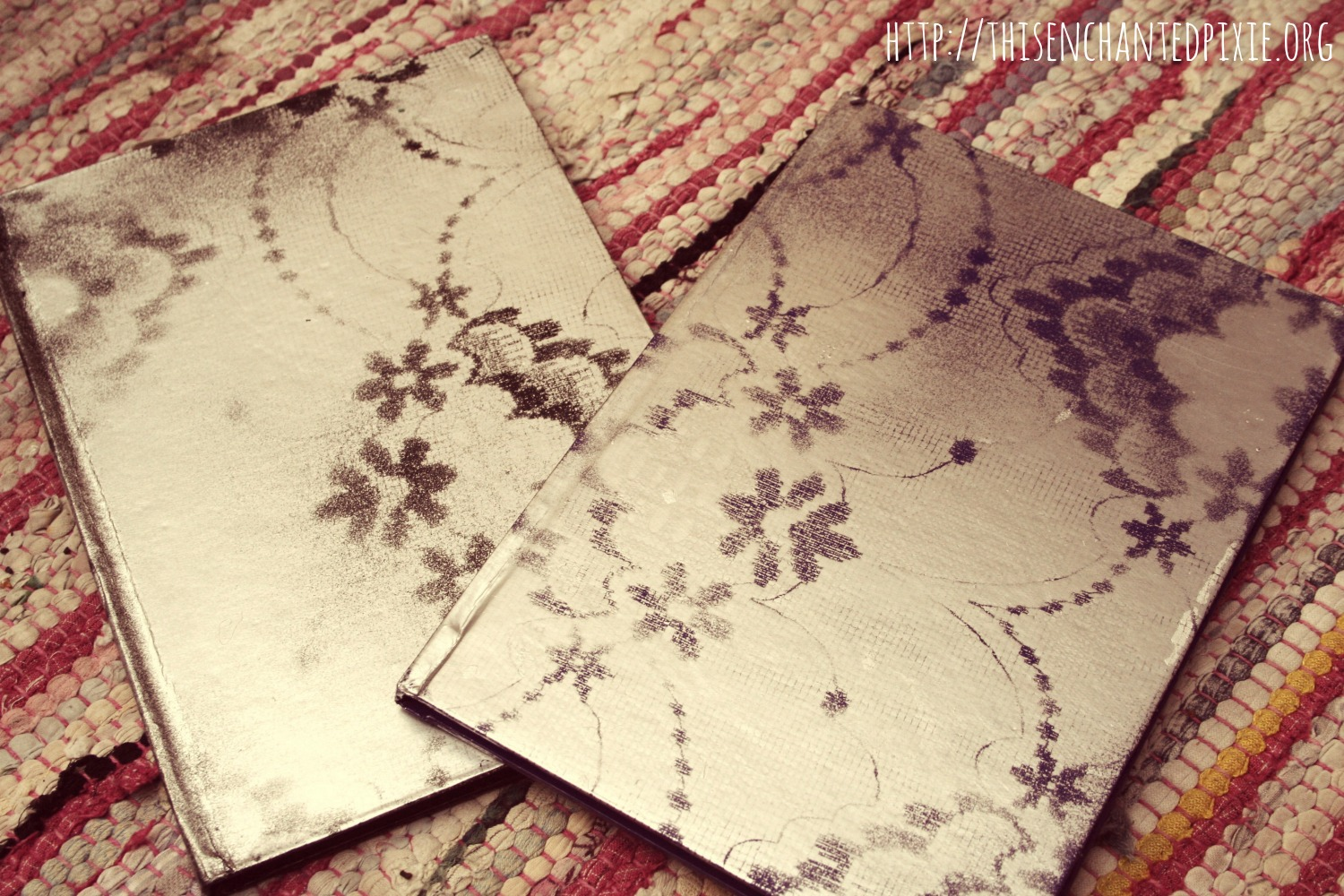 diy lace effect journal