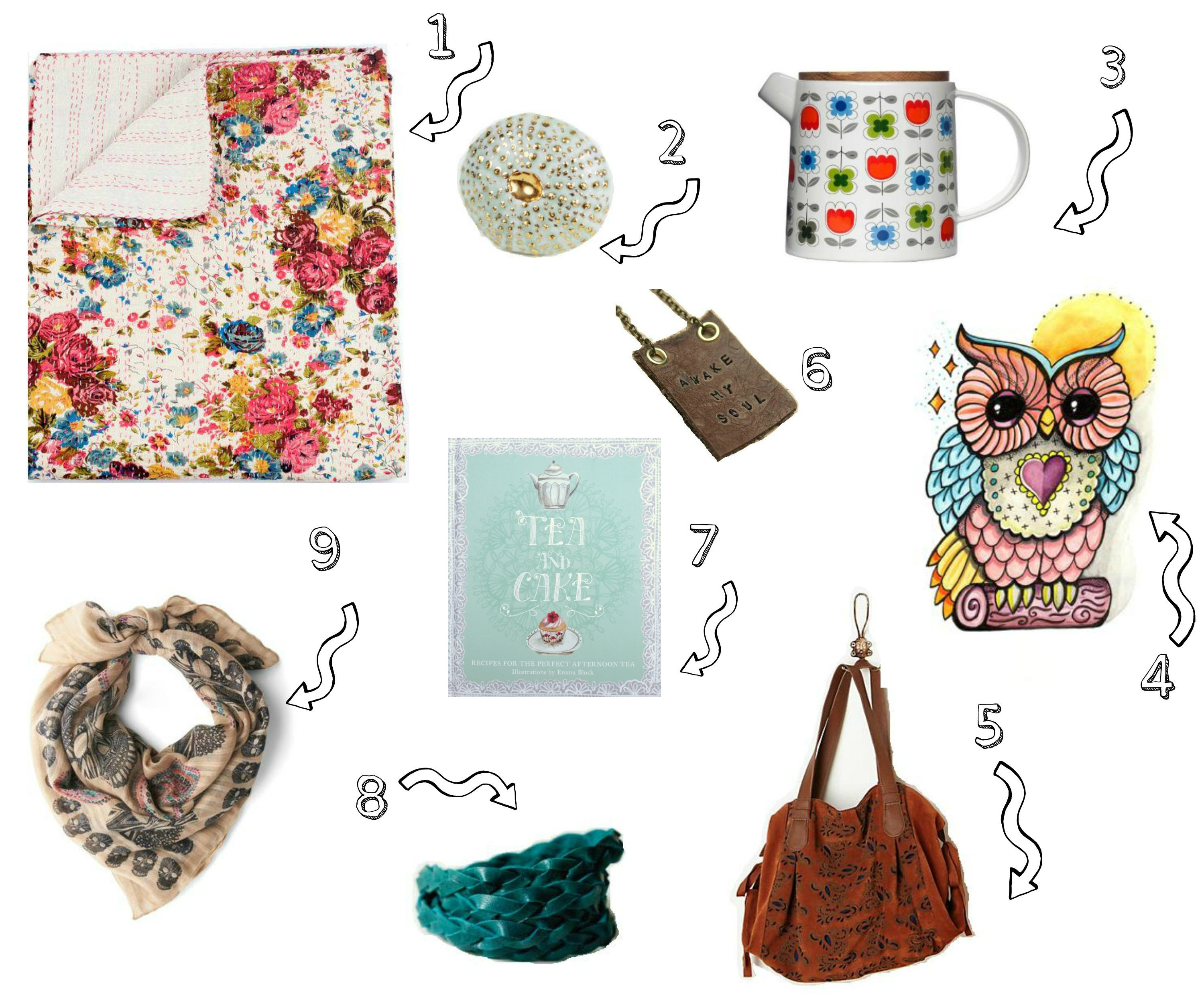 gift guide for her collage