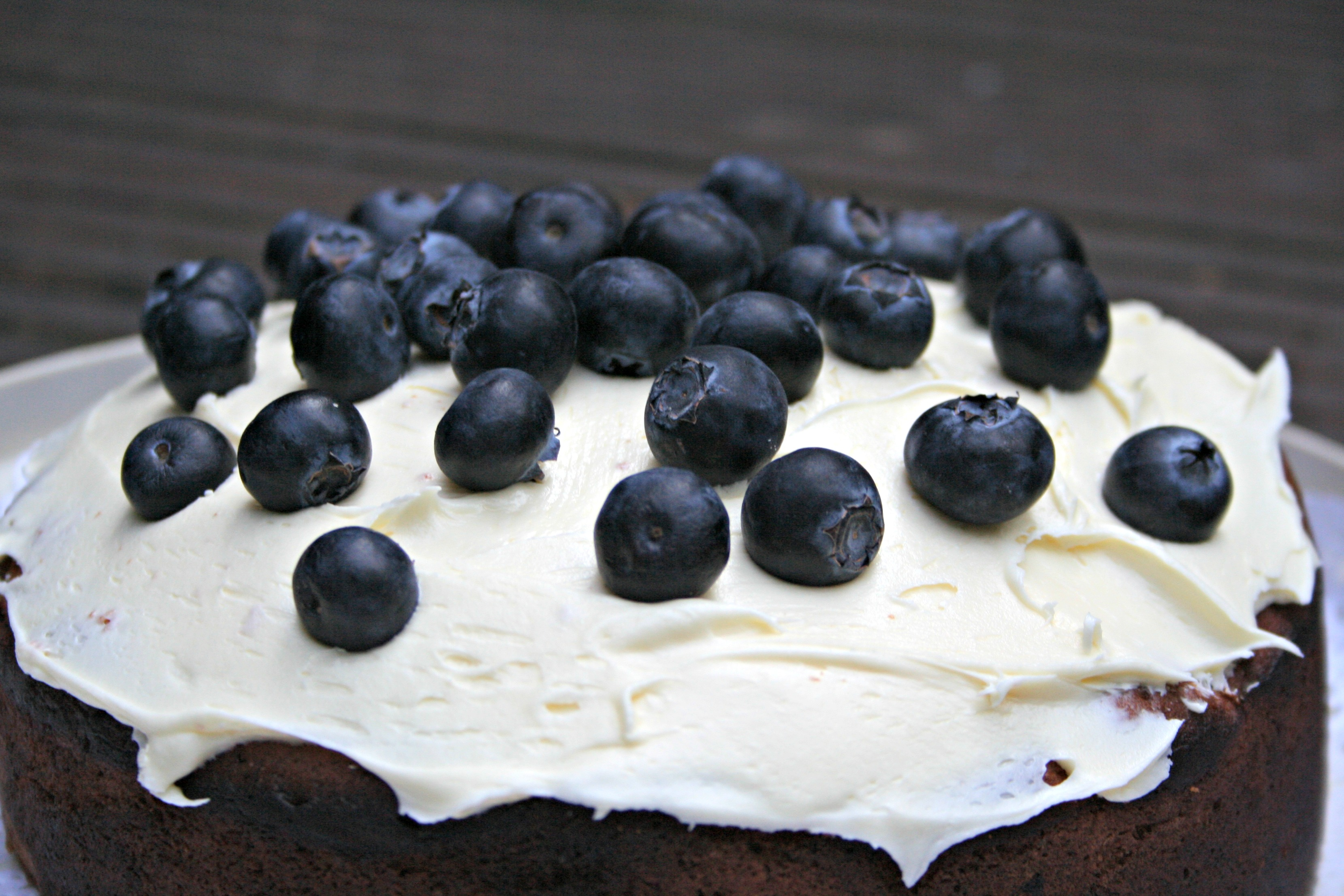 lemon + blueberry cake