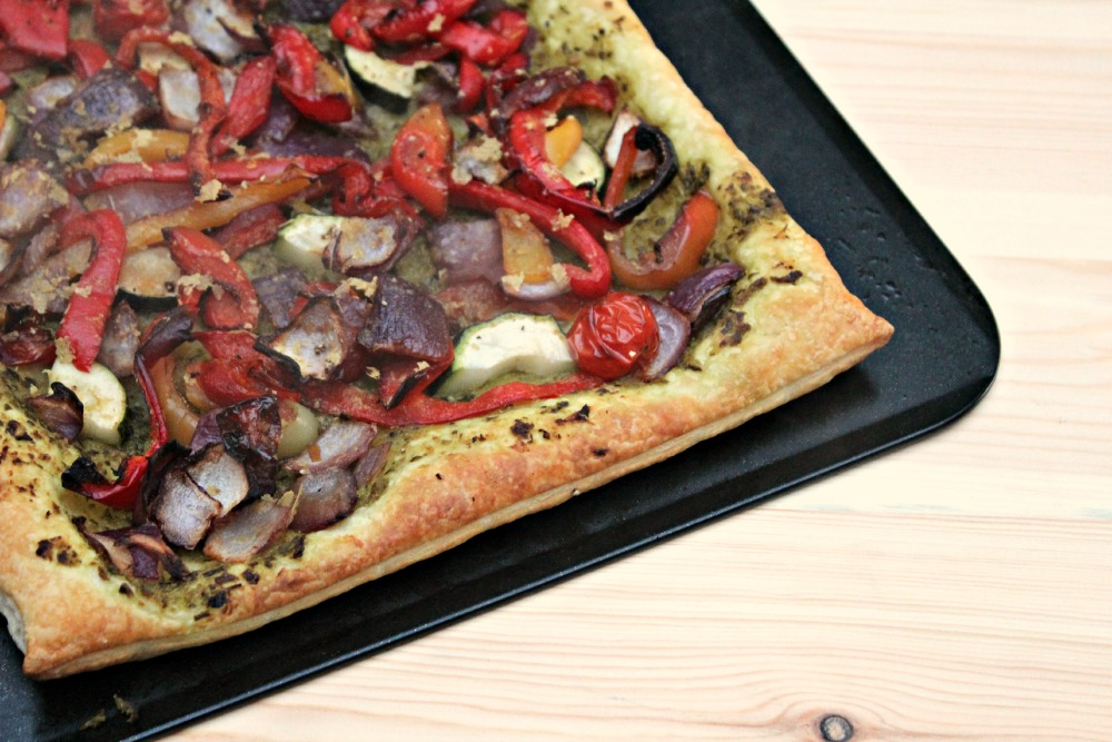 Roasted Vegetable Tart - Enchanted Pixie