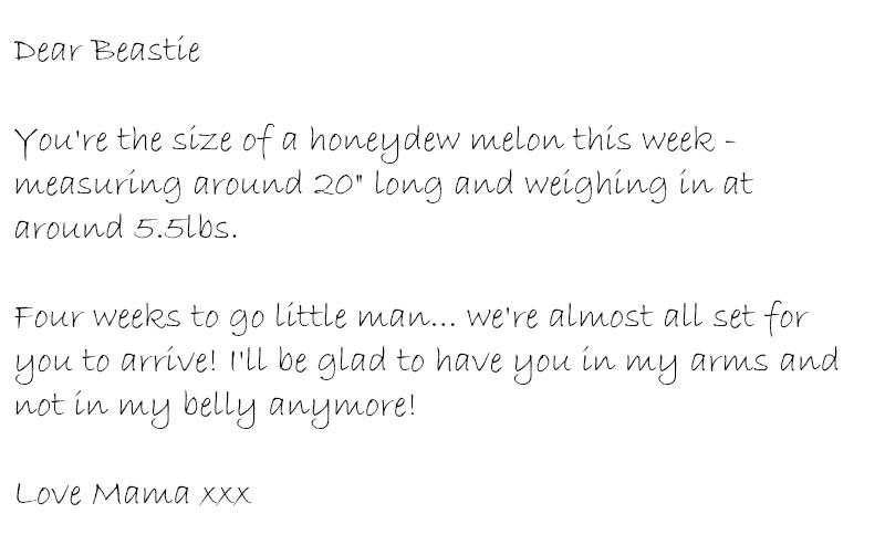 dear baby week thirty six