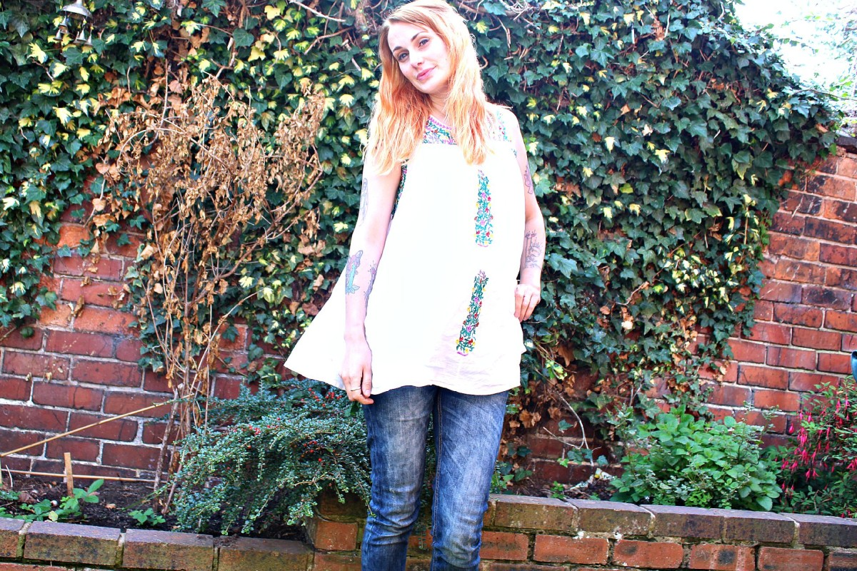 what i wore smock top