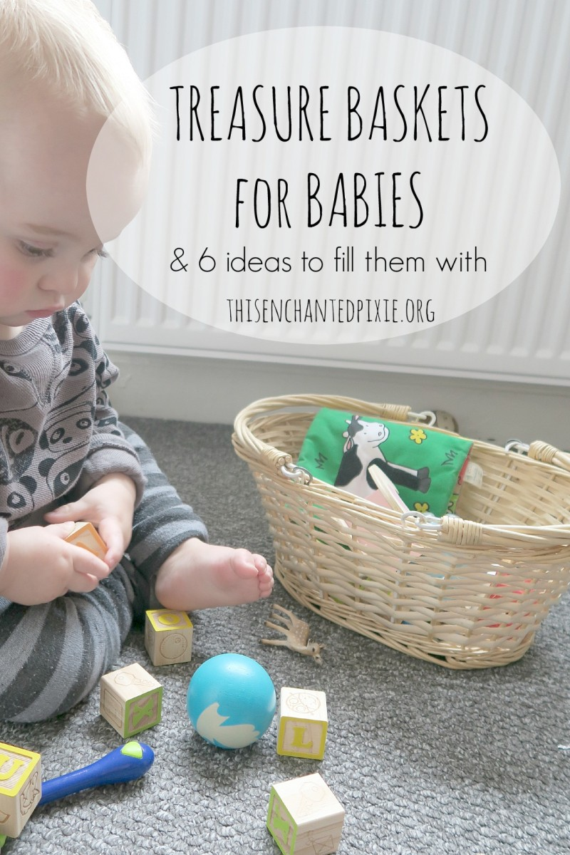 Creating treasure baskets for babies and 6 ideas of what to fill 6 ideas to fill treasure baskets to keep your little one entertained negle Image collections