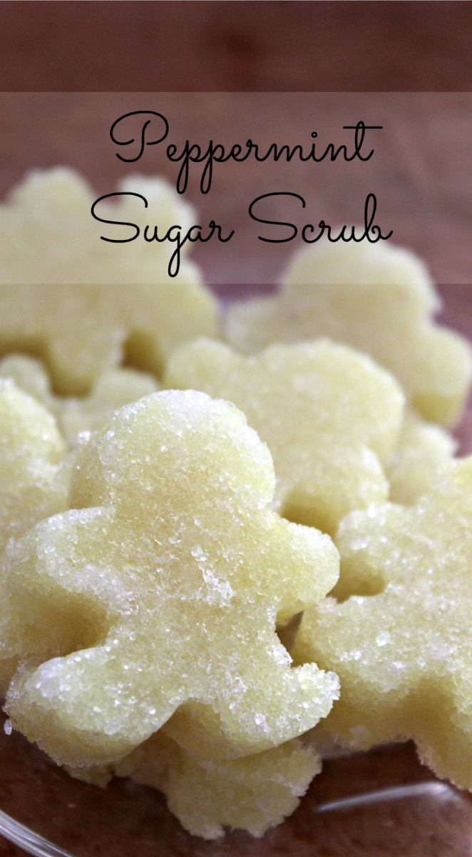 peppermint sugar scrub pin
