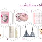 a valentines wishlist