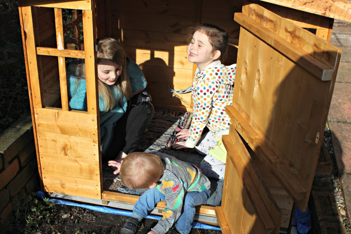 kids in the playhouse