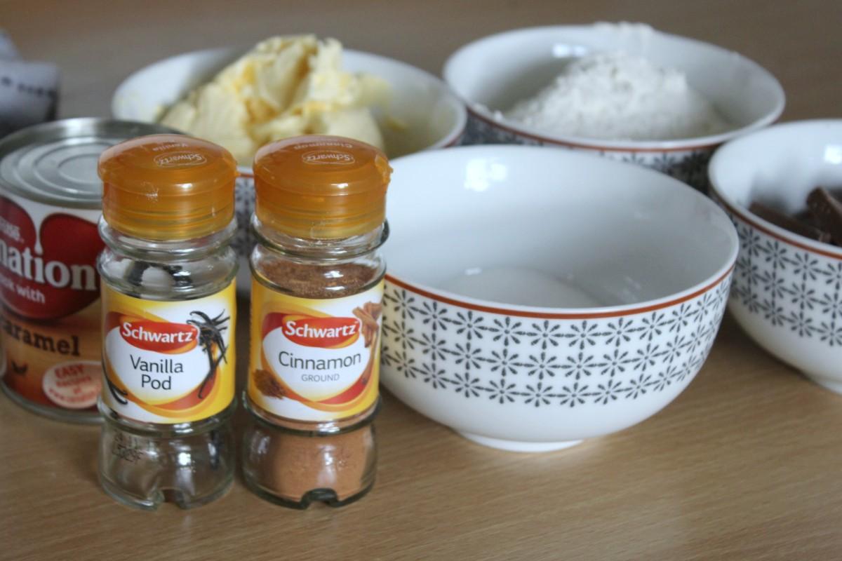 salted caramel shortbread ingredients