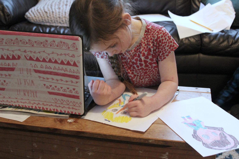 this homeschooling life #8 baya drawing
