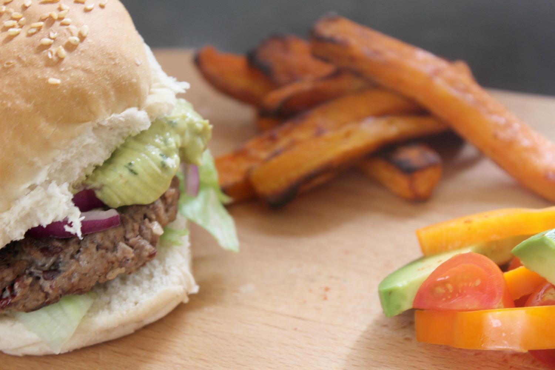 beef bean burger