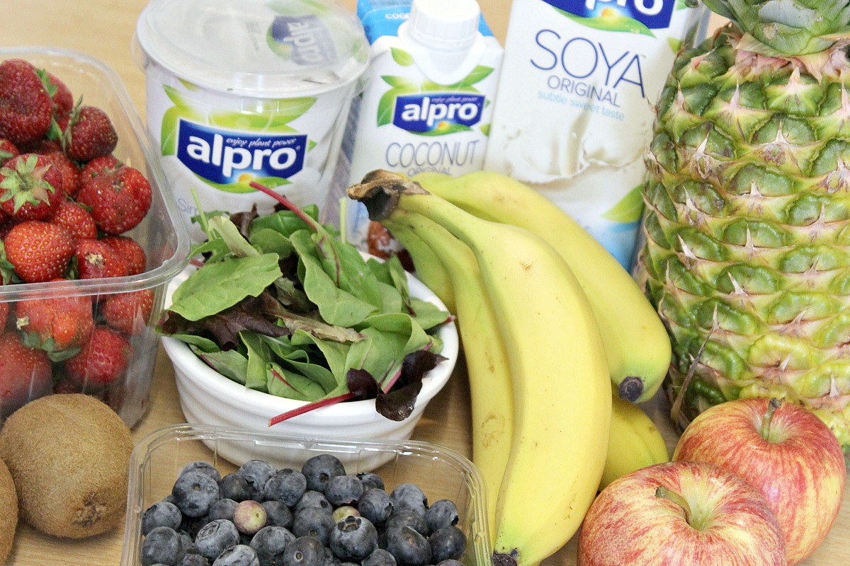 fruit and alpro for smoothies