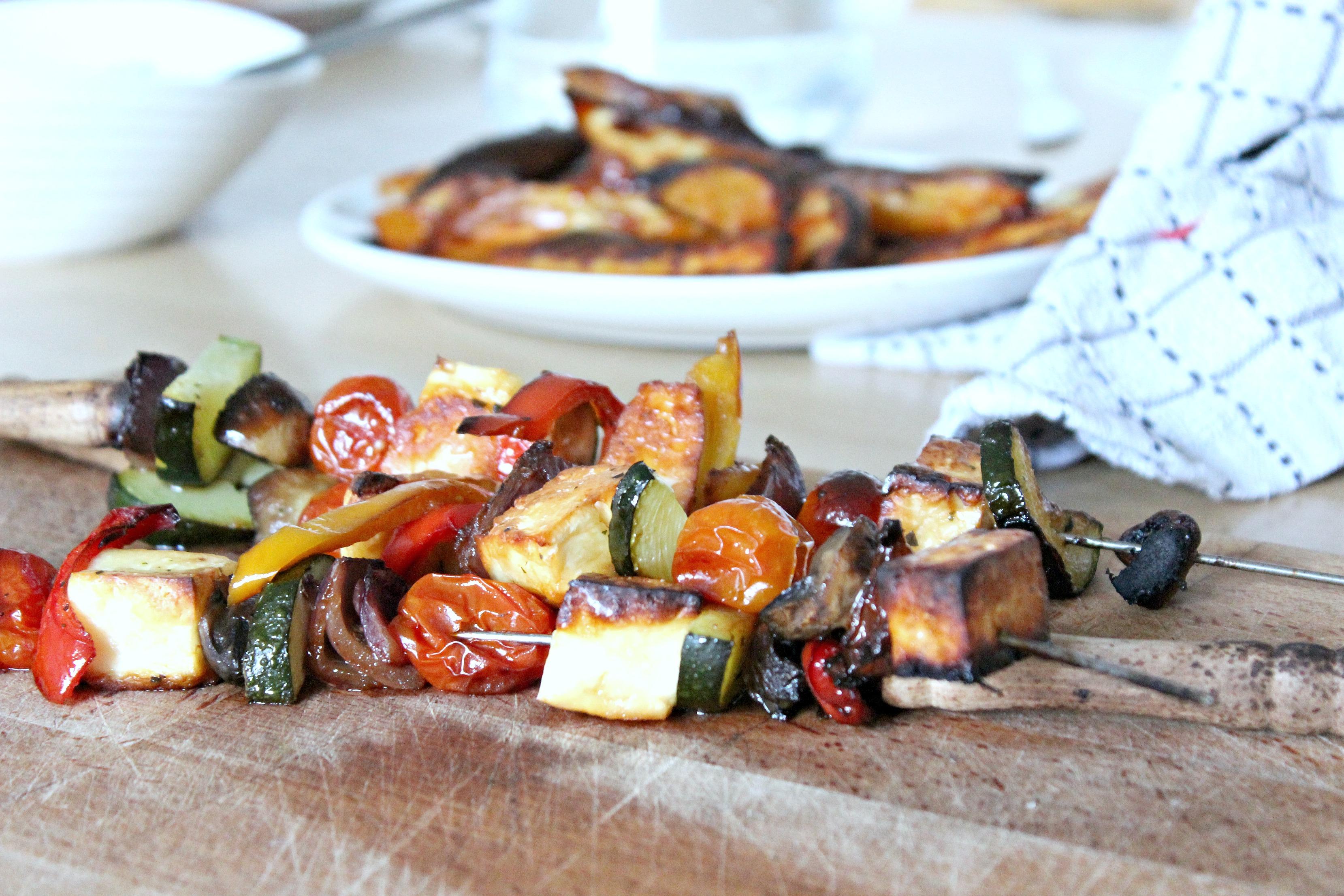Lime & Corriander Veggie Kebabs