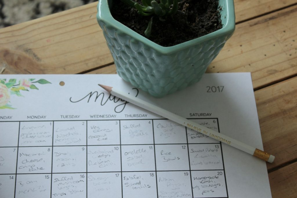 A family meal plan for May