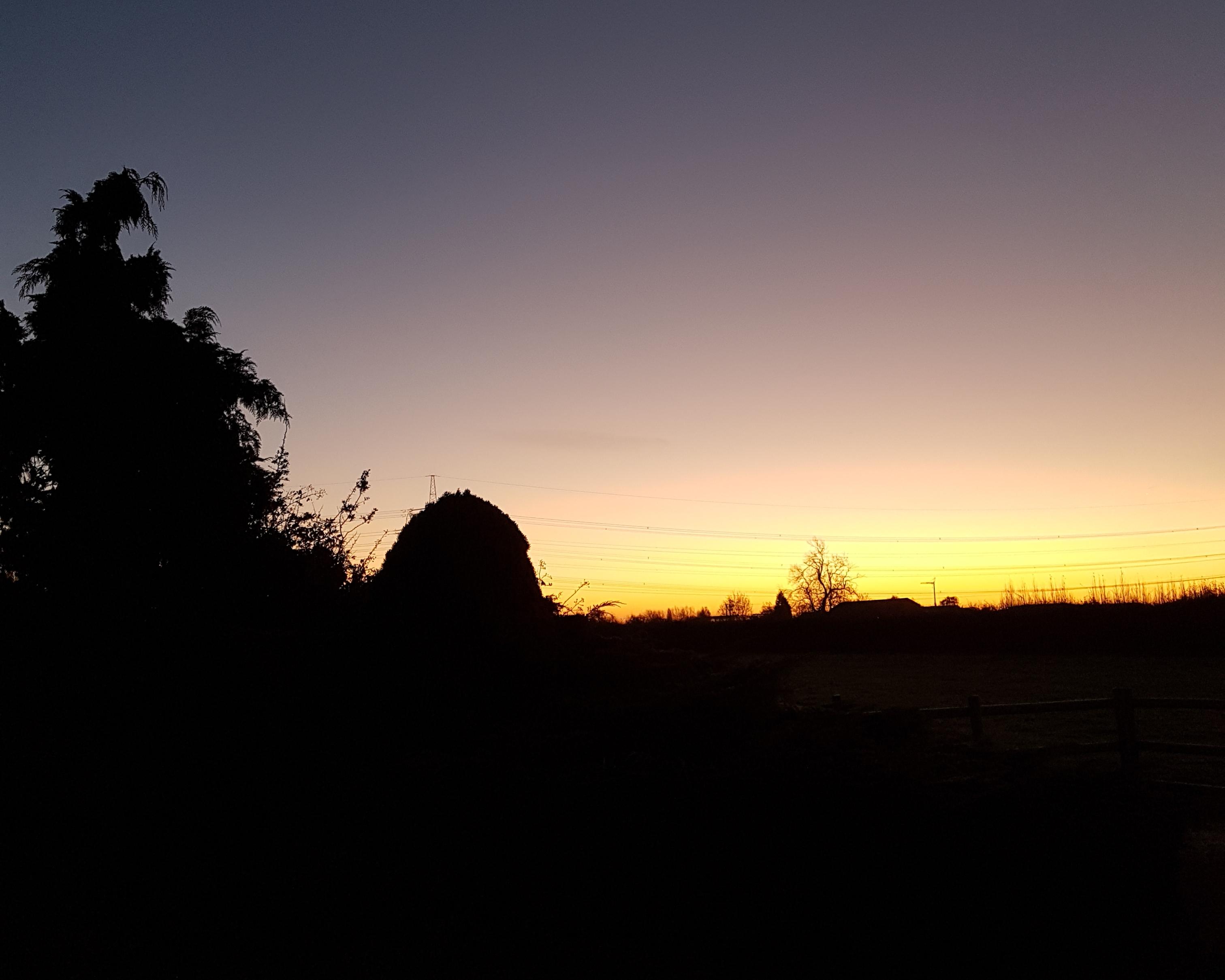 #sunrise #silouhette