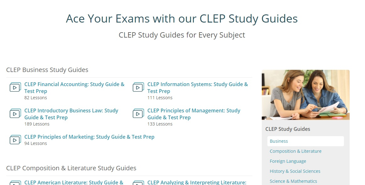 Review | CLEP Exam preperation from Study com - Enchanted Pixie