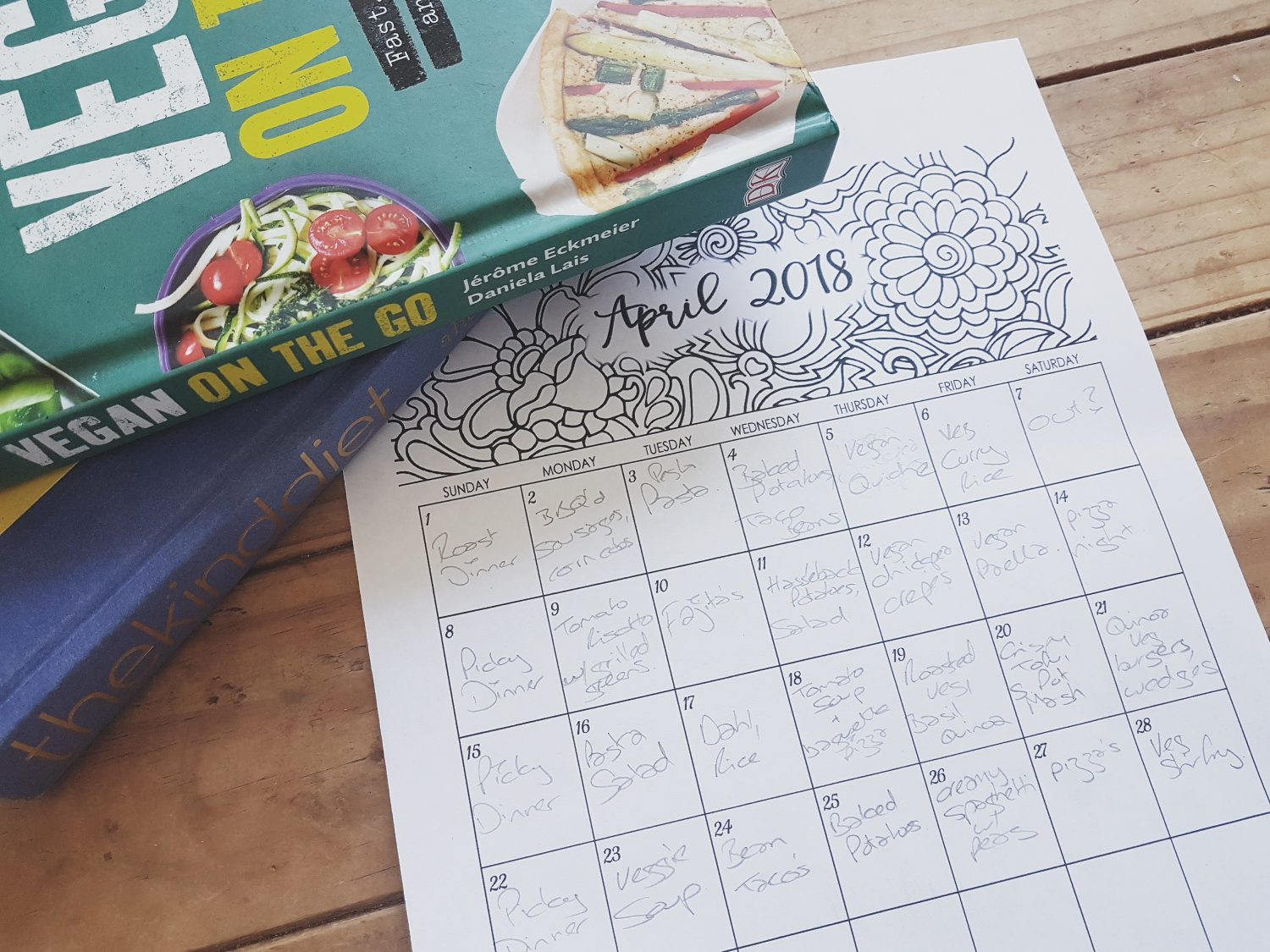 Vegan family meal plan for a month